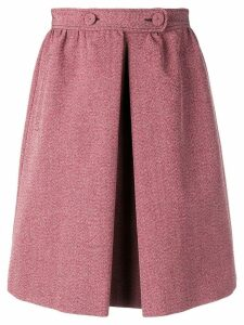Bottega Veneta melange a-line skirt - Red