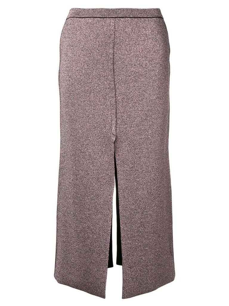 Lédition glitter effect midi skirt - Pink