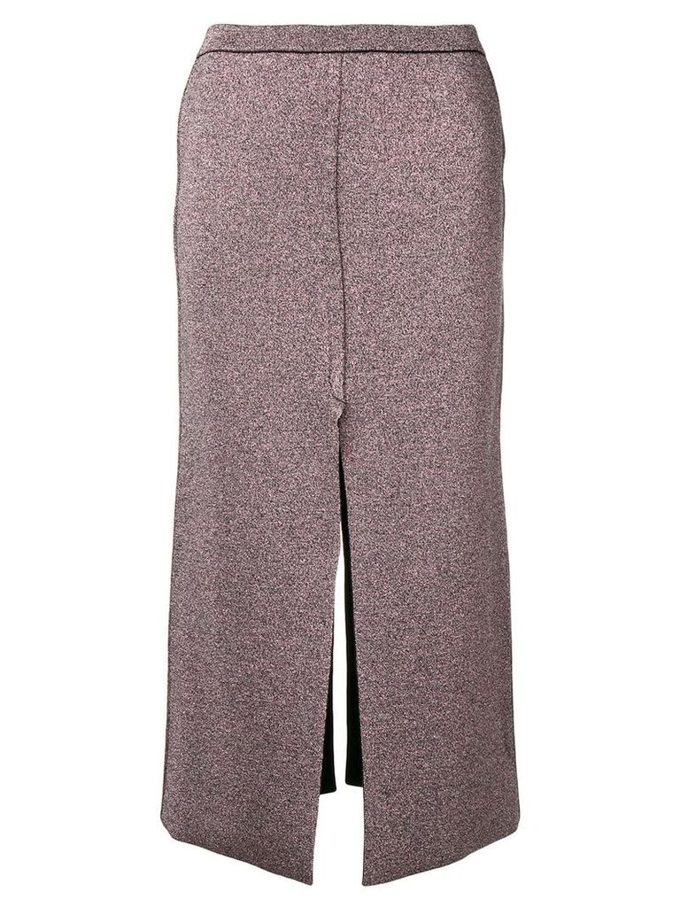 Lédition glitter effect midi skirt - Pink