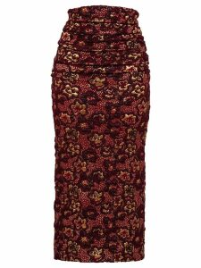 Miu Miu Cloqué skirt - Red