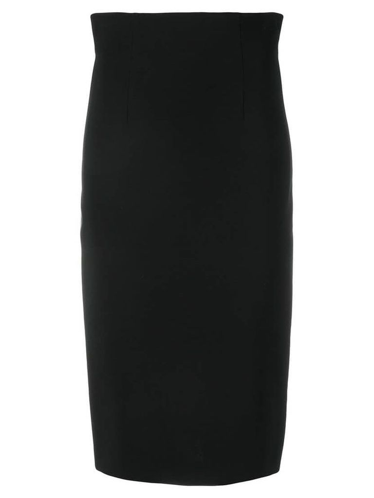 Versace back zip pencil skirt - Black