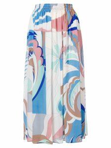 Emilio Pucci Acapulco Print Midi Skirt - Blue