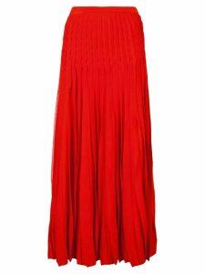 Carolina Herrera pleated skirt - Red