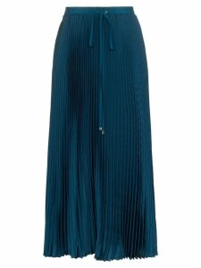 Tibi drawstring pleated midi skirt - Blue