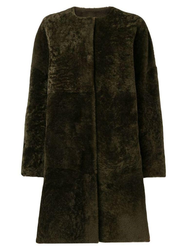 P.A.R.O.S.H. reversible shearling coat - Brown