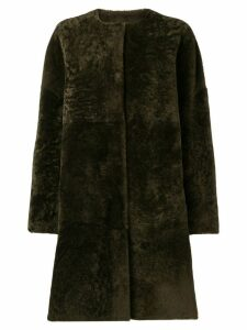 P.A.R.O.S.H. reversible shearling coat - Brown