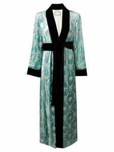 Gucci embellished robe coat - Green
