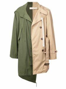 Maison Mihara Yasuhiro military x trench coat - Green