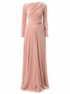 Talbot Runhof Ross draped gown - Pink