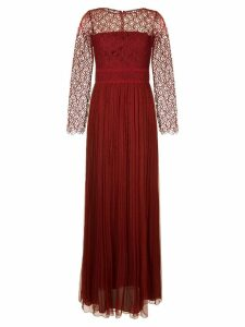 Copurs fine lace sheer gown - Red