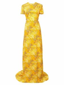 Carolina Herrera mix pattern long dress - Yellow