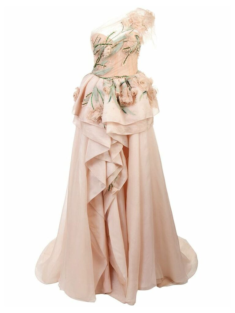Marchesa long evening dress - Pink