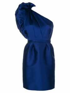 Stella McCartney taffeta one-shoulder dress - Blue