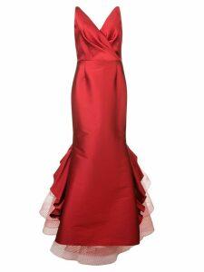 Sachin & Babi Chesterton Gown - Red