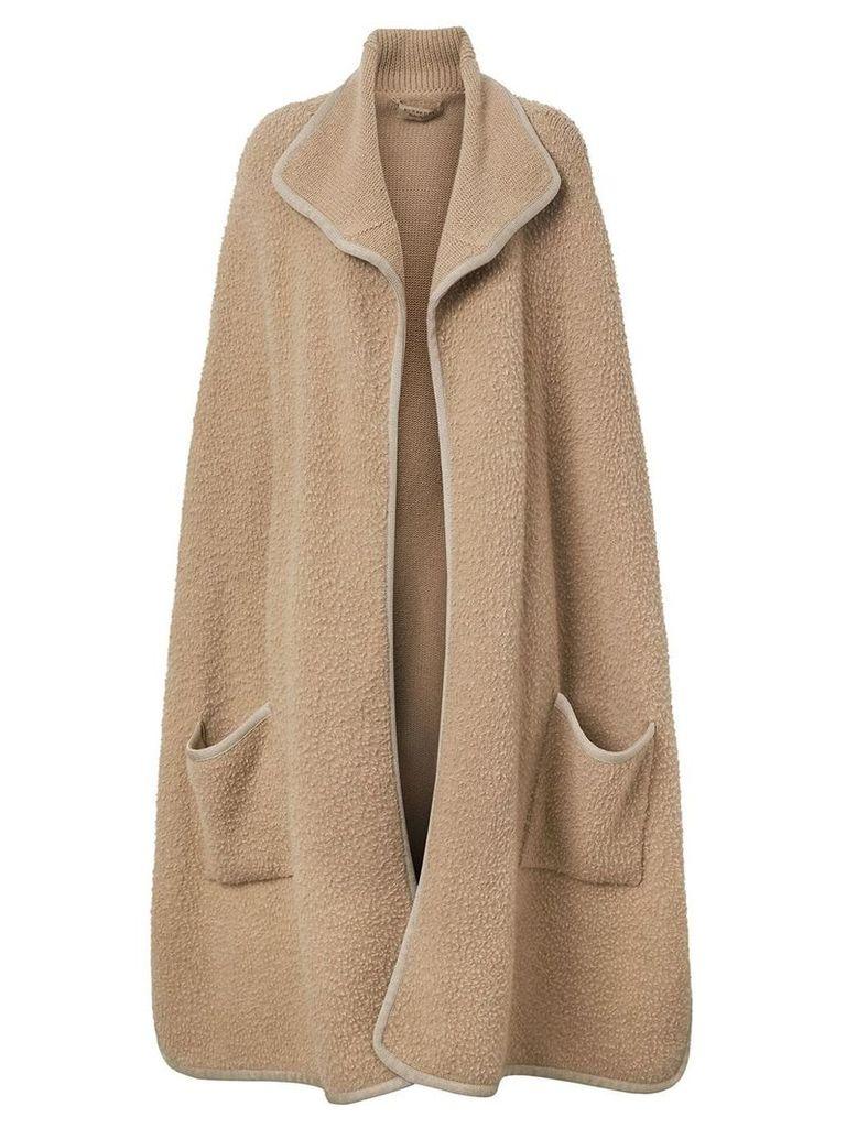 Burberry Wool Fleece Cape - Brown