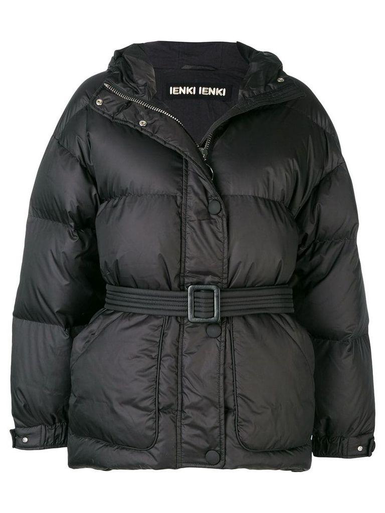 Ienki Ienki belted padded jacket - Black