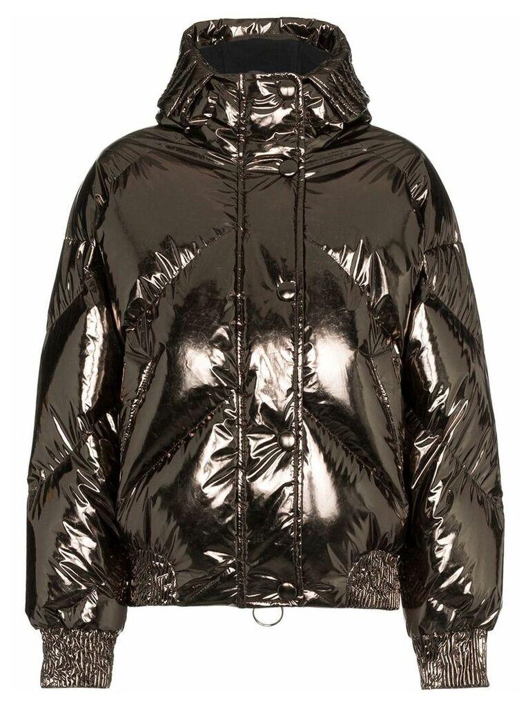 Ienki Ienki Dunlop foil puffer jacket - Metallic