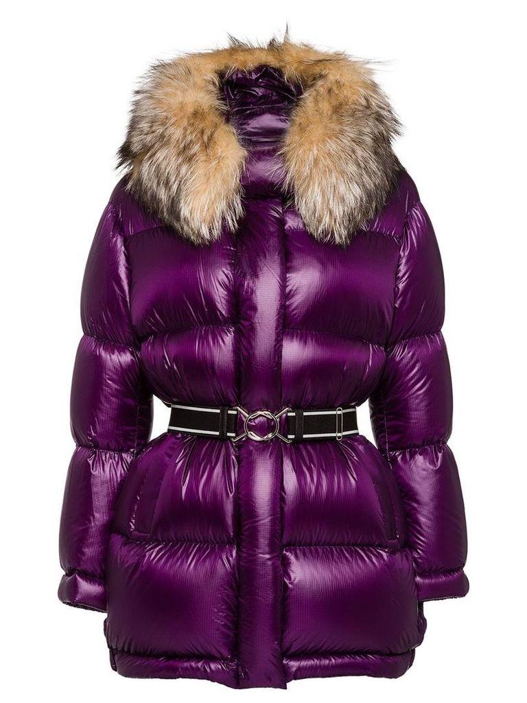 Prada ripstop puffer jacket - Purple