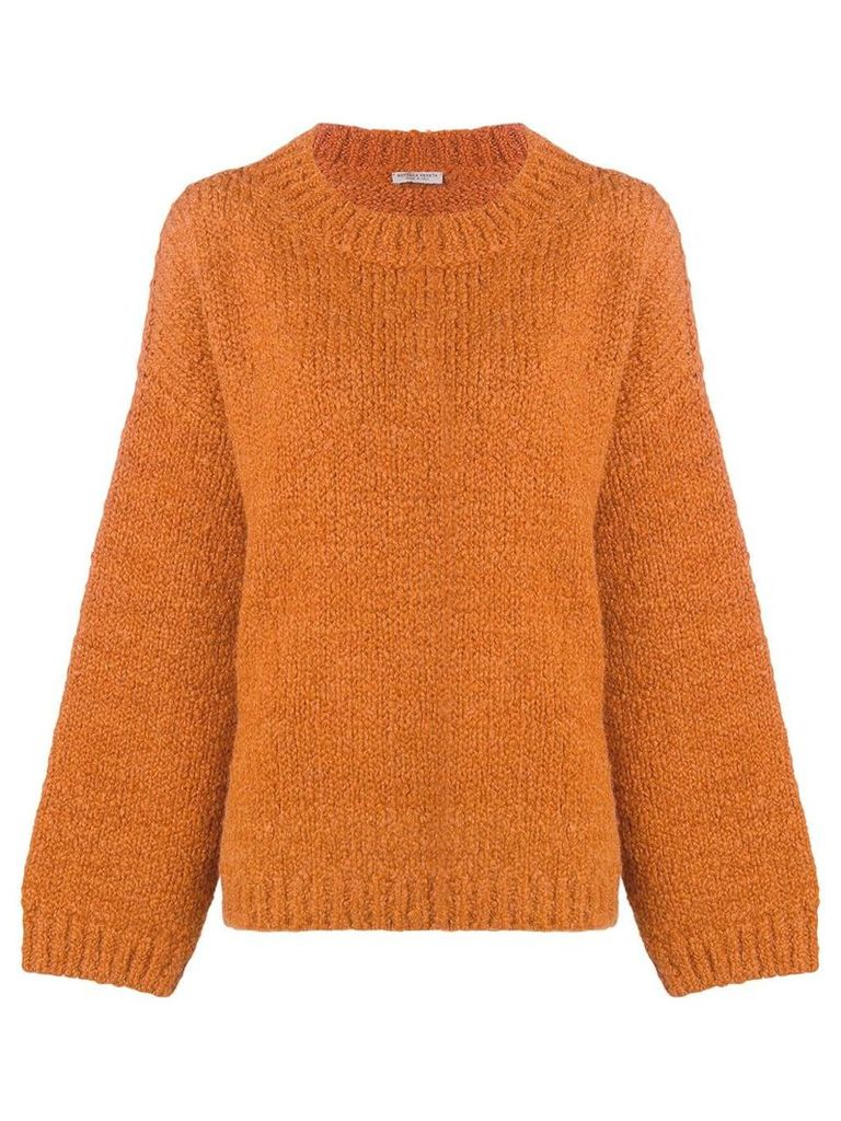 Bottega Veneta dropped shoulders jumper - Orange