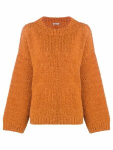 Bottega Veneta dropped shoulders jumper - Orange