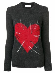 Giada Benincasa heart intarsia jumper - Grey