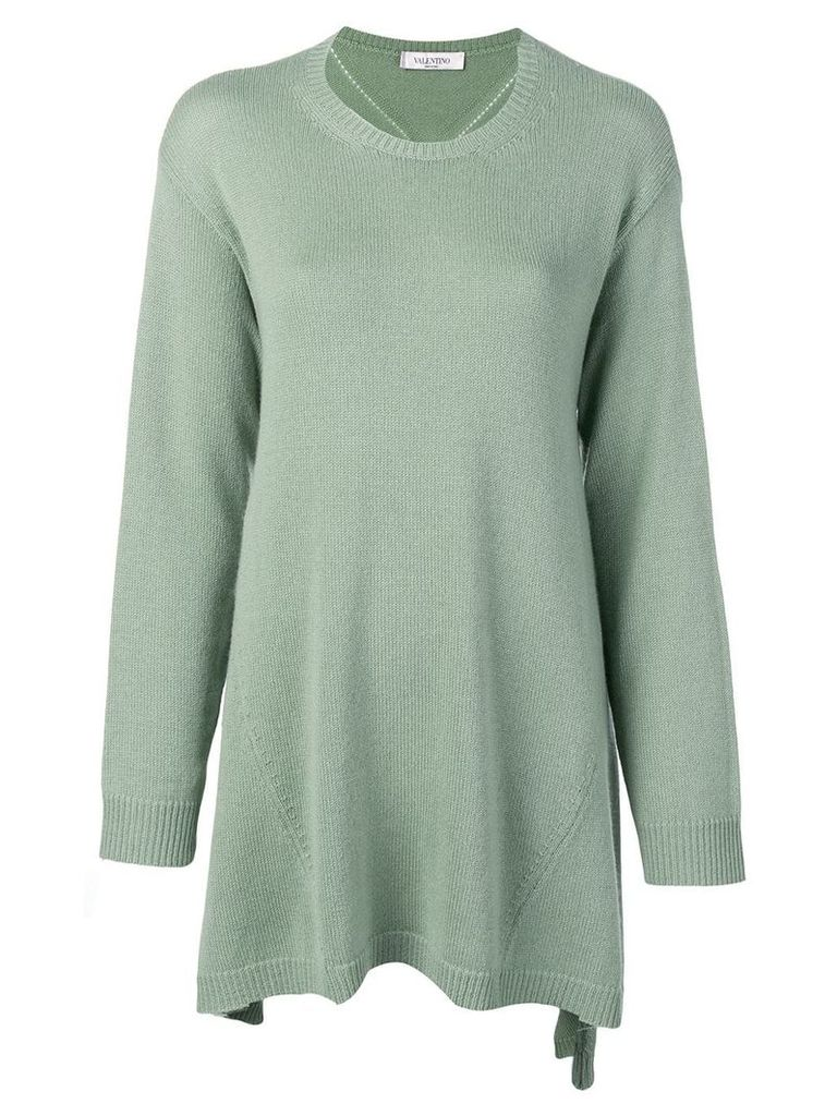 Valentino asymmetric cashmere jumper - Green
