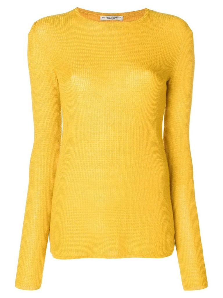 Holland & Holland long-sleeve fitted sweater - Yellow