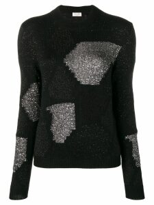 Saint Laurent lurex knitted jumper - Black