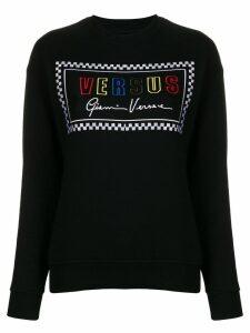 Versus embroidered logo jumper - Black