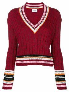 Dondup v neck jumper - Red
