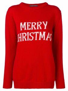 Alberta Ferretti Merry Christmas knitted jumper - Red