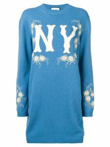 Gucci Gucci x MLB oversized jumper - Blue