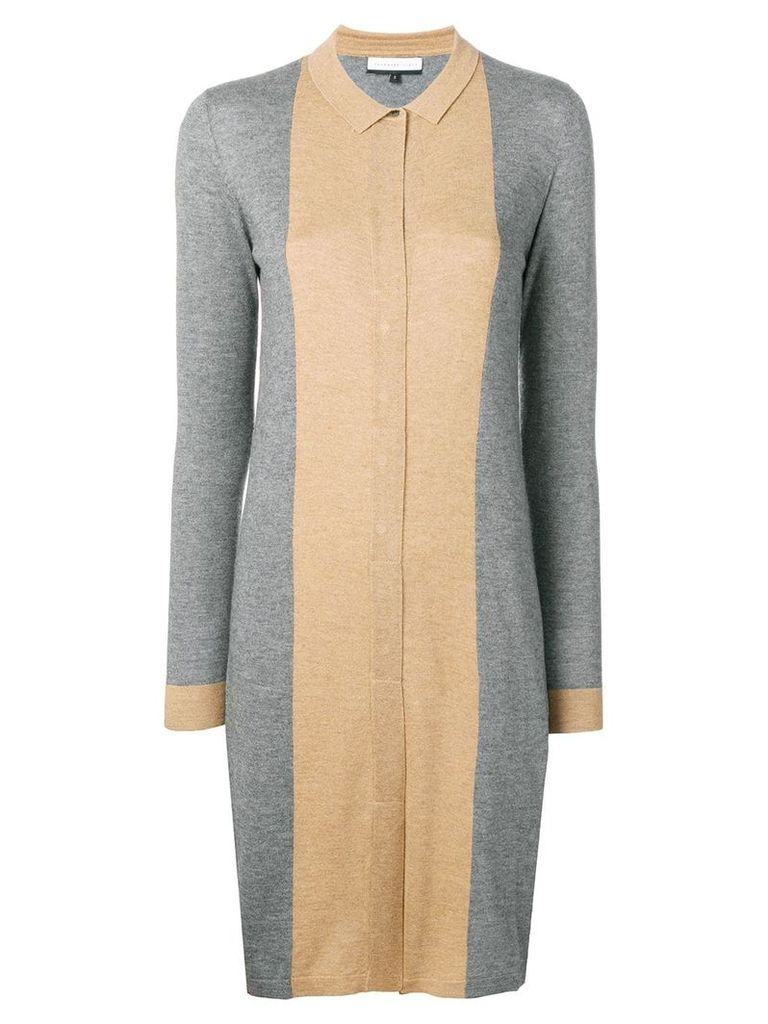 Cashmere In Love Natya two-tone sweater dress - Grey