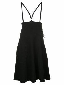 Rudi Gernreich strapped flared midi skirt - Black