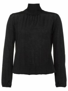 Prada back pussy bow knitted top - Black