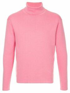 Caban roll neck jumper - Pink