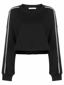 Christopher Kane crystal trim crop sweatshirt - Black