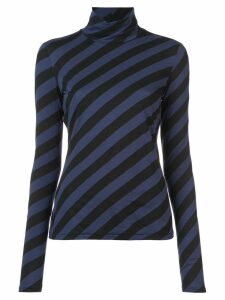 Proenza Schouler PSWL Diagonal Stripe Turtleneck - Black