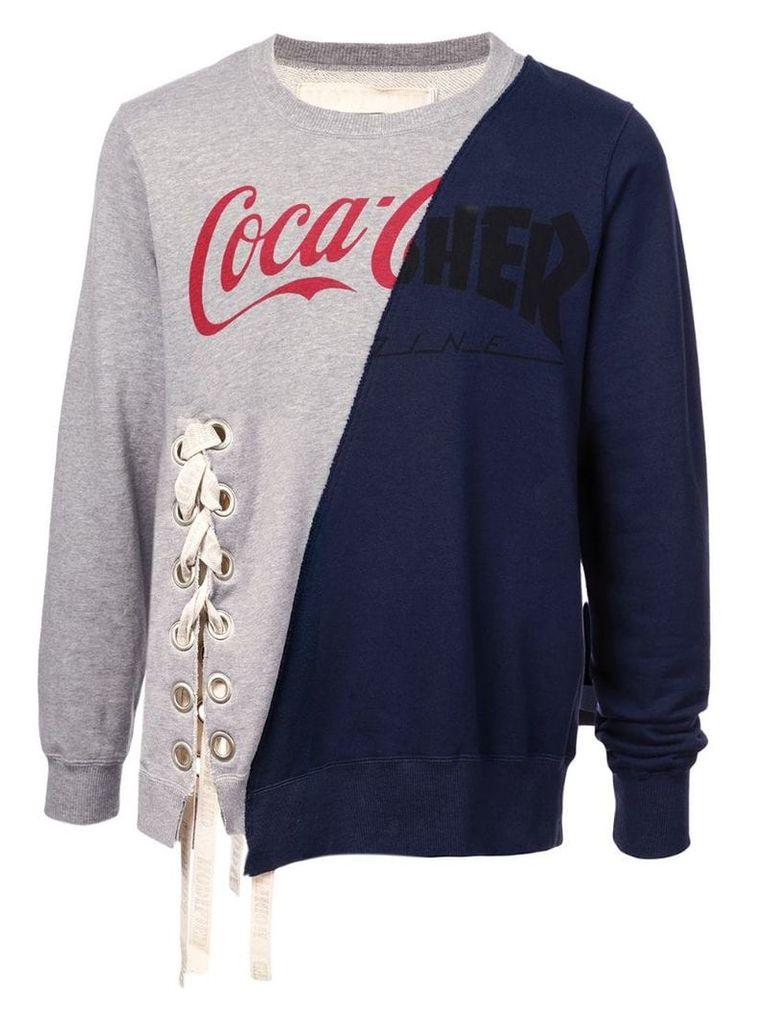 Maison Mihara Yasuhiro mesh branded sweater - Grey