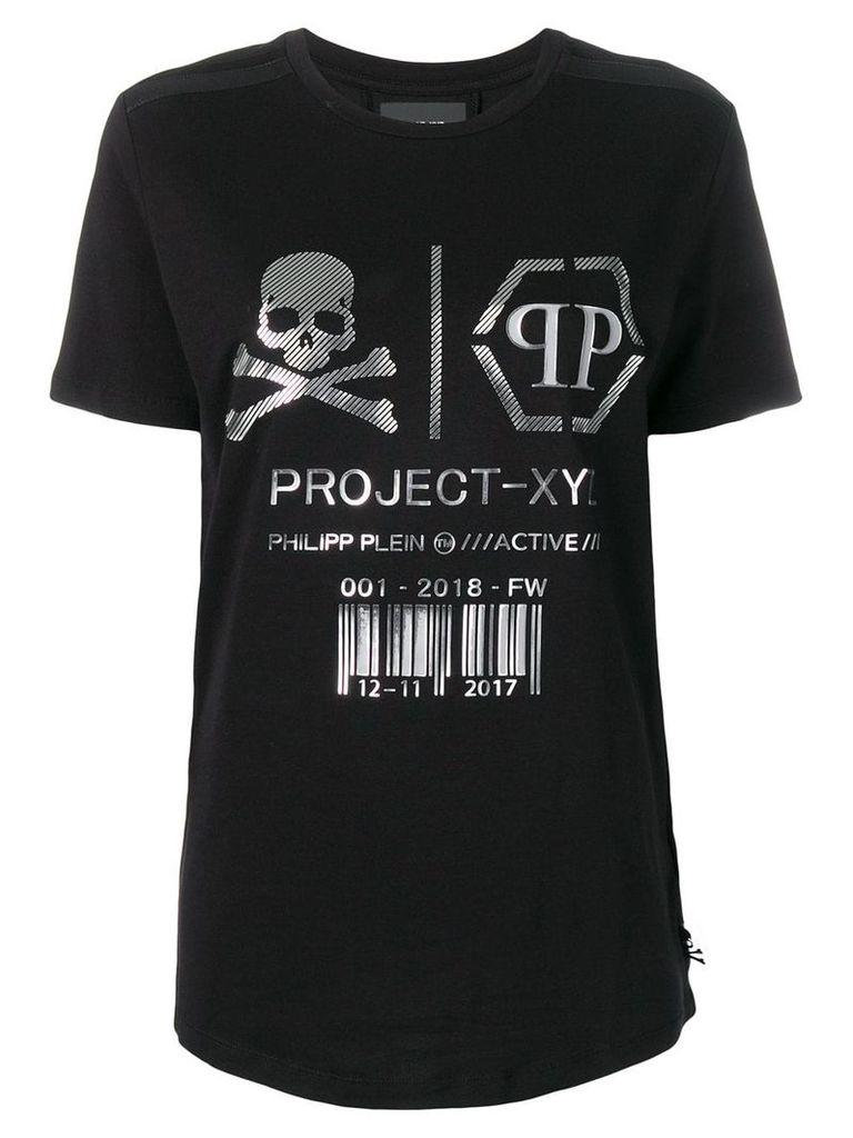 Philipp Plein XYZ Skull and Plein T-shirt - Black