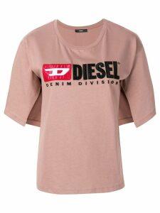 Diesel Logo split-sleeve T-Shirt - Pink