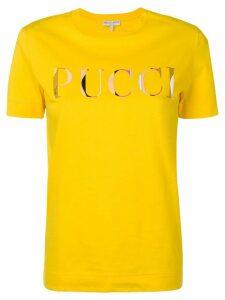 Emilio Pucci Yellow Guanabana Print Logo T-Shirt