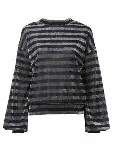 RtA striped lurex sweatshirt - Black