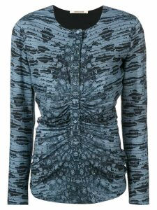 Roberto Cavalli printed gathered front top - Blue