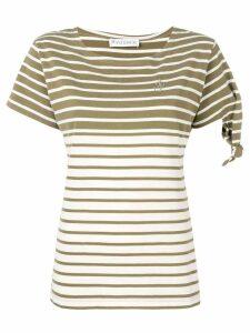 JW Anderson breton khaki Stripe knot t-shirt - Neutrals