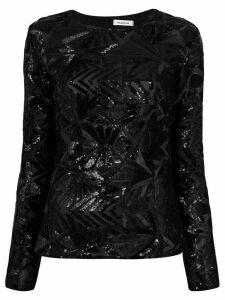P.A.R.O.S.H. sequin blouse - Black
