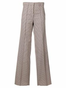 Victoria Beckham checked wide-leg trousers - White