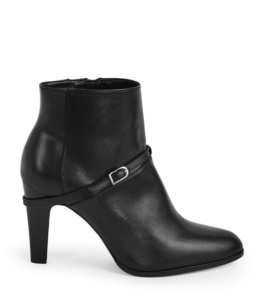 Reiss Ophelia - Buckle Detail Ankle Boots in Black, Womens, Size 8