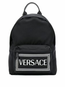 Versace logo backpack - Black