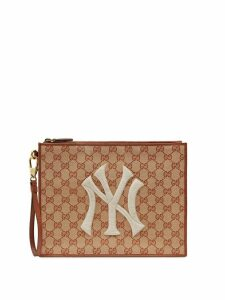 Gucci Original GG pouch with NY Yankees™ patch - Neutrals